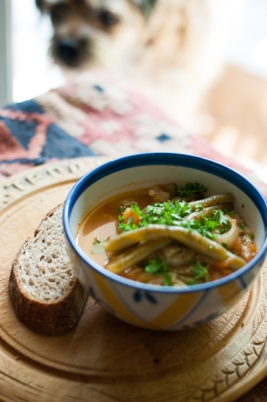 Farmers market soup