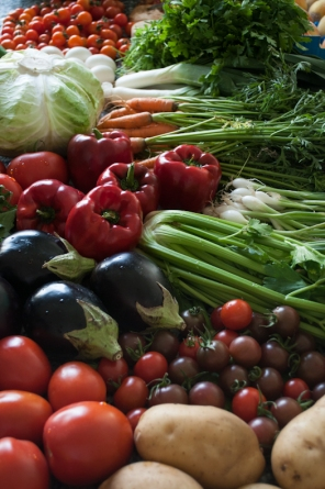 Vegetables from the farmers market dubai