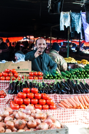 Fruit and veg market Tbilisi