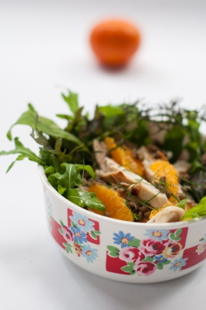 Lentil, chicken, fennel and orange salad - www.mycustardpie.com