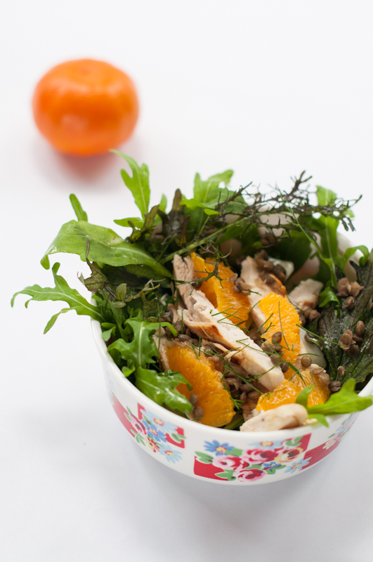 Lentil, chicken, orange, fennel salad - www.mycustardpie.com