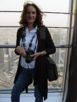 Sally Prosser at the Burj Khalifa