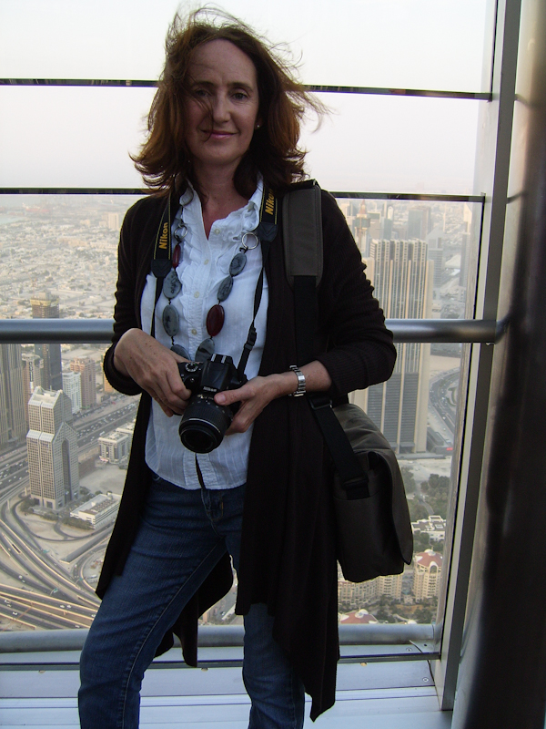 With camera at the Burj Khalifa - My Custard Pie