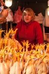 Chicken seller, Tbilisi market Georgia - My Custard Pie