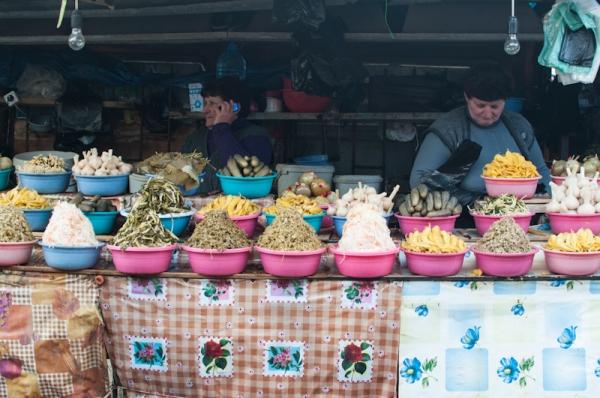Pickle stall Tbilisi market Georgia - My Custard Pie