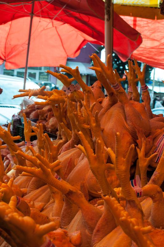 Chicken in Tbilisi market Georgia - My Custard Pie