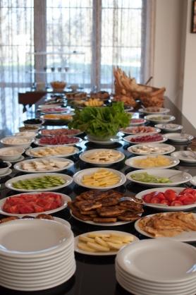Breakfast spread at Kvareli Eden