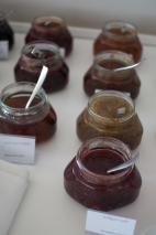 Homemade jam at breakfast at Hotel Kabadoni