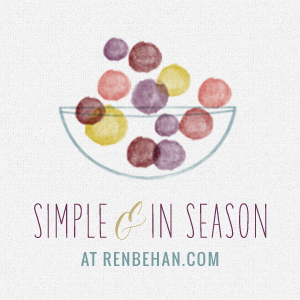 Simple and in Season - enter your post on mycustardpie.com