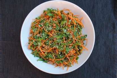 Carrot and coriander salad by Hungry, healthy, happy