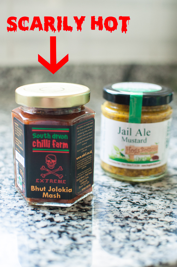 The hottest chilli sauce ever and local mustard in my kitchen - mycustardpie.com