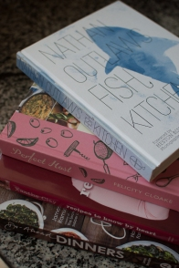 Cookbooks in my kitchen - mycustardpie.com
