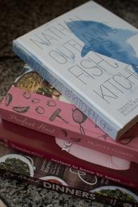 Cookbooks in my kitchen - mycustardpie.com