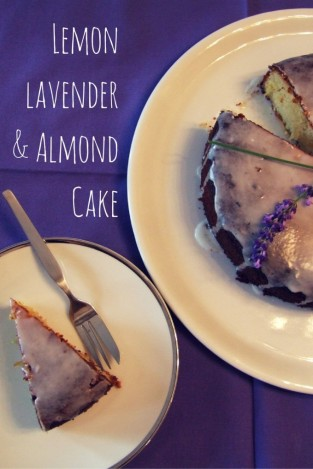 Lemon, lavender and almond cake on Family-friends-food