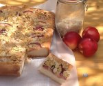 Peach Streusel Kuchen Traybake on Tales From a Kitchen Shed