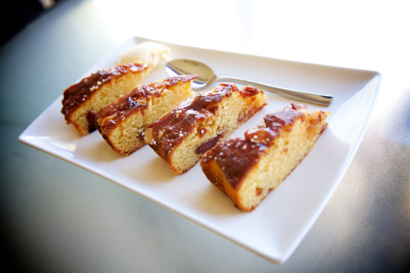 caramelised quince and almond cake by The Quirk and the Cool