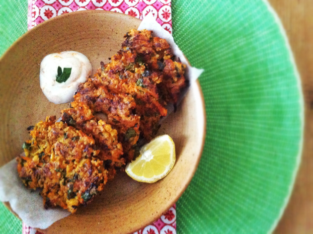 Sweet Potato, Courgette and Paneer Baked Fritters