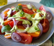 Tomatoes with Greek salad dressing by How to cook good food