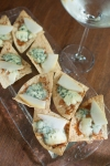 Blue cheese and pear dante chips - My Custard Pie