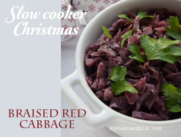 Slow cooker braised red cabbage