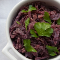 Slow cooker Christmas: braised red cabbage