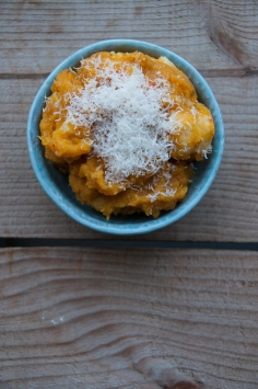 Gnocchi with butternut squash sauce
