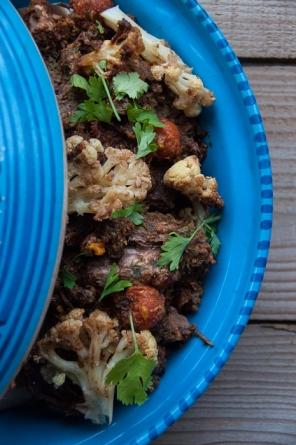 Beef tagine with cauliflower
