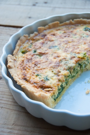 chard and stilton tart