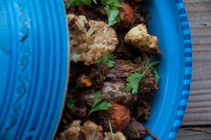 Beef tagine with cauliflower