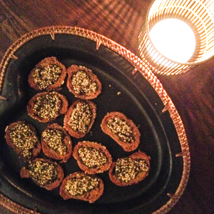 Zaatar topped nibbles