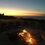 Fire and sunset view at Amwaj