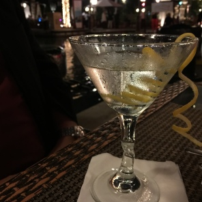 Vodka martini at Left Bank