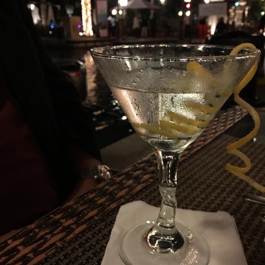Vodka martini at Left Bank