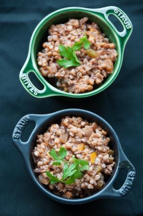 Vegan buckwheat ragu