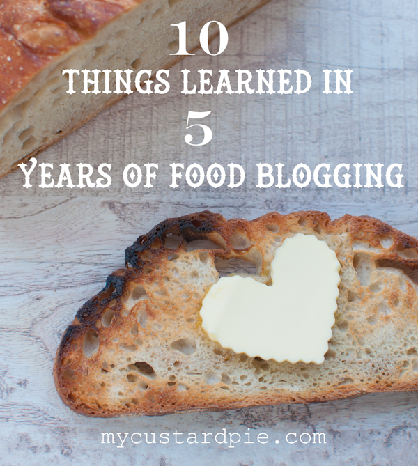 10 things learned from 5 years of food blogging