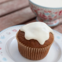 Spiced butternut squash muffins with margarita sour cream