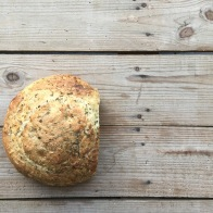 Parsley sourdough loaf - mycustardpie.com