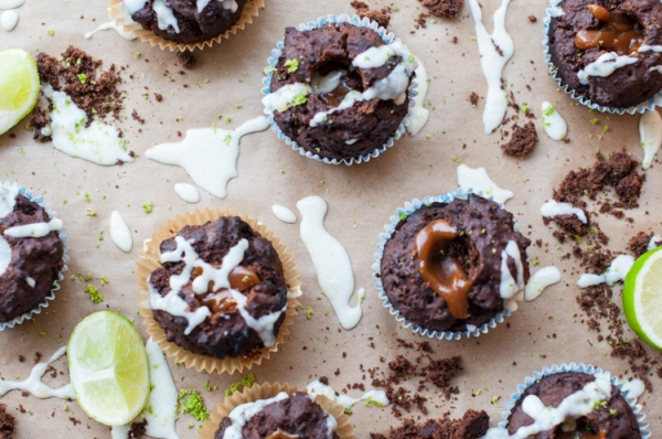 Mocha stout muffins on mycustardpie.com