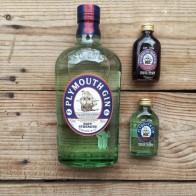 Plymouth navy strength, regular and sloe gin in my kitchen - mycustardpie.com