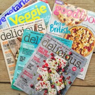 Food magazines in my kitchen - mycustardpie.com