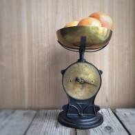 Vintage scales in my kitchen - mycustardpie.com