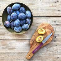 Seasonal ripe plums from the region - mycustardpie.com