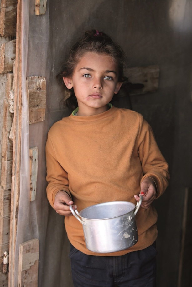 Syrian refugee at Bekaa Valley camp