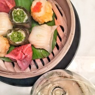 Dim sum at Hakkasan wine tasting panel - My Custard Pie