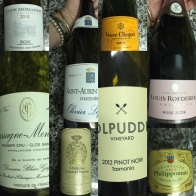 Wines from dinner at home - My Custard Pie