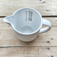Lovely white jug - In My Kitchen November 15 MyCustardPie
