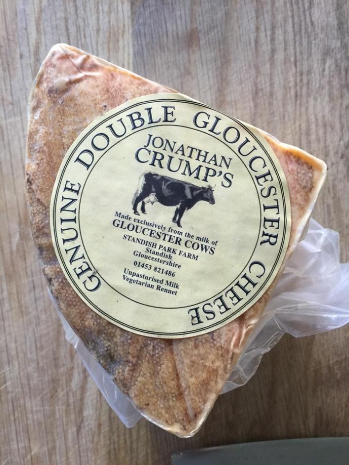 Genuine Double Gloucester cheese In my kitchen on mycustardpie