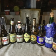 Belgian beer tasting by Lindsay of the Tasting Room - more about December food experiences on mycustardpie.com