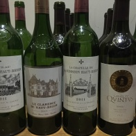 A few of the bottles we tasted from the 2011 horizontal tasting of Haut Brion - more about December food experiences on mycustardpie.com