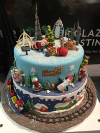 I think this was the official winner at the BBC Good Food Show. What amazing time and dedication went into these cakes - read more about December foodie happenings on mycustardpie.com